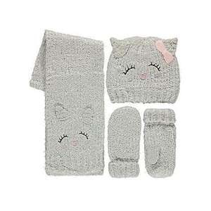 3 Piece Cat Face Hat, Scarf and Gloves Set. Was £9 now £4 @ Asda George. Free C&C
