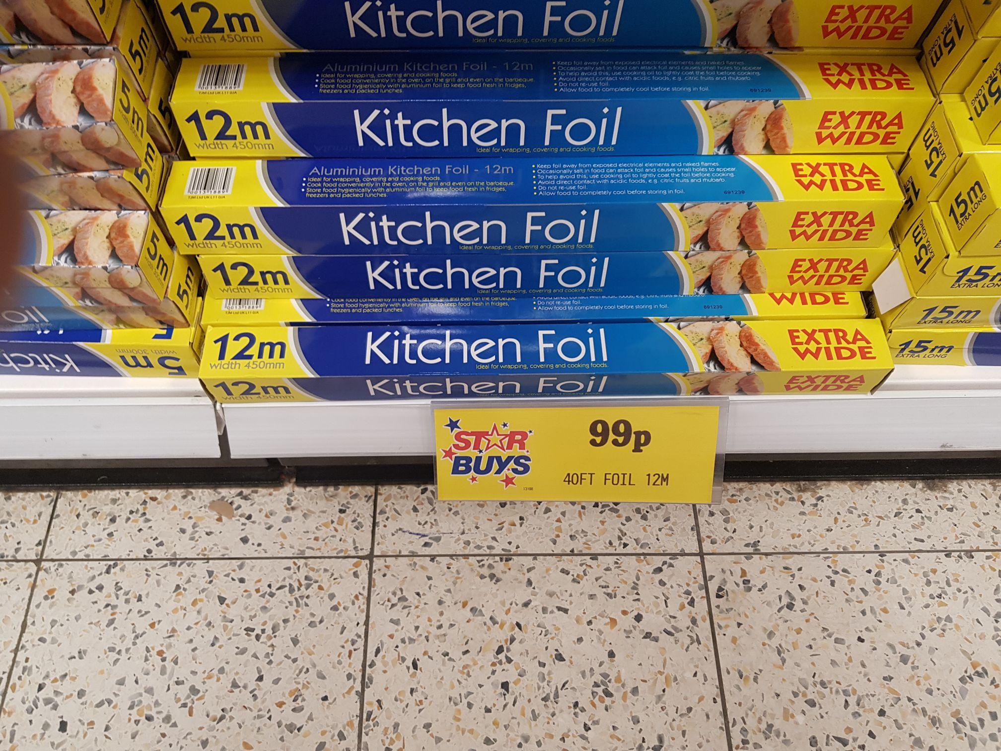 450mm x 12m kitchen foil 99p @ Home Bargains
