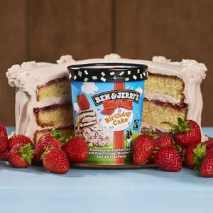 Ben & Jerrys 500ml  £2.50 at Asda ,inc the new flavour BIRTHDAY CAKE