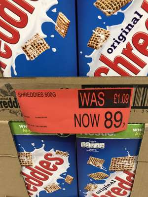 Shreddies 500g 89p @ B&M Sunderland