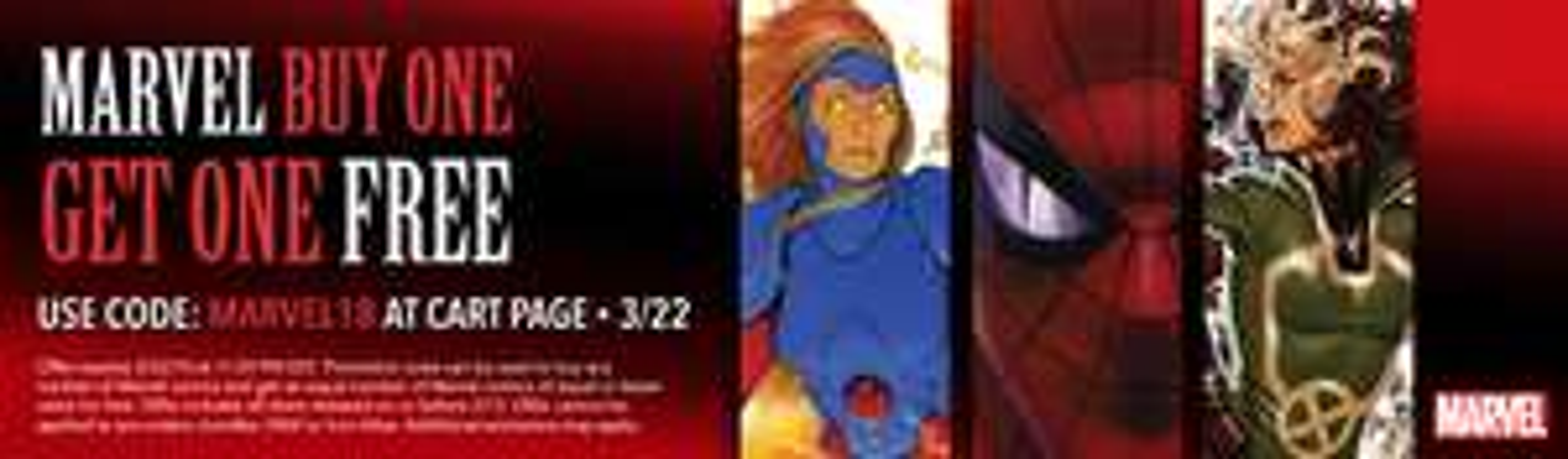 Marvel BOGOF offer @ Comixology discount offer