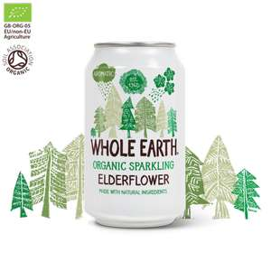 Whole earth organic Sparkling Elderflower Cans 5 for £1 @ Heron discount offer