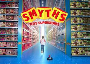 Take your Toys R Us loyalty card into Smyths for 20% off certain products