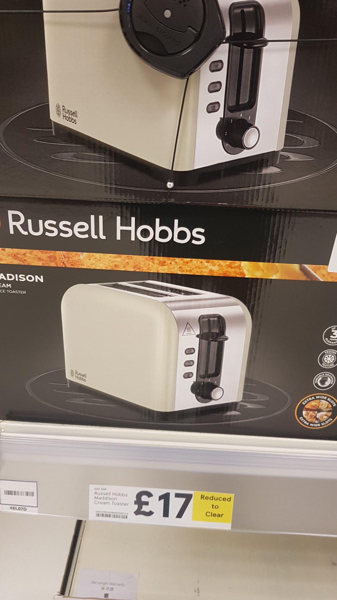Russell hobbs toaster £17 instore @ Tesco Bradford