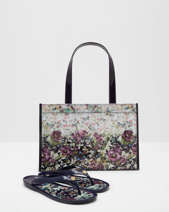 Ted Baker Entangled Enchantment shopper bag and flip flop set £45.00 (was £70.00) @ Ted Baker -Free Delivery
