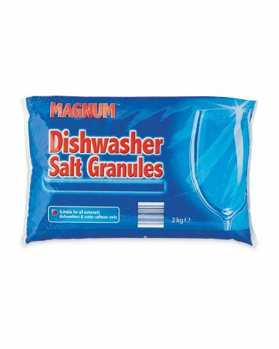 Dishwasher salt 2kg. Only 59p at Aldi