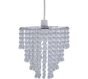 Heart of house cascading glass & chrome clear shade £19.99 @Argos