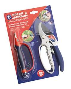 Spear & Jackson Razorsharp Ratchet Anvil Secateurs & Sharpener Set £13.49 @ Amazon Prime / £17.48 non-Prime