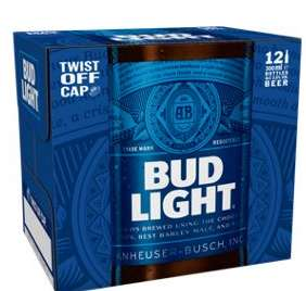 #DillyDilly Bud Light Beer 12 Pack (300 ml) (£1.94 per lt) £7 @ asda