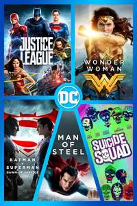 Justice League, Suicide Squad, Man Of Steel, Batman v Superman & Wonder Woman - HD / 4K £34.99 @ itunes