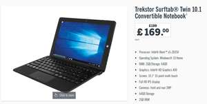 Lidl : Trekstor Surftab Twin 10.1 Convertible Notebook (Intel Atom x50Z8350)  regular  £199  now  £ 169.00