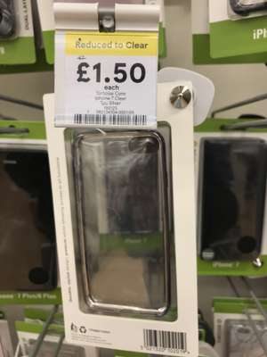 Tortoise Core Iphone 7 Clear TPU Silver was £7 now £1.50 instore @ Tesco Newport