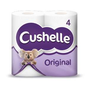 Cushelle 4 pack £1 with £1 off voucher from asda atms instore @ Asda