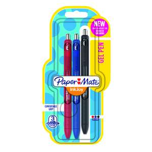 Paper Mate Inkjoy Gel Pens Assorted Colours 3 pack only 75p @ Wilko