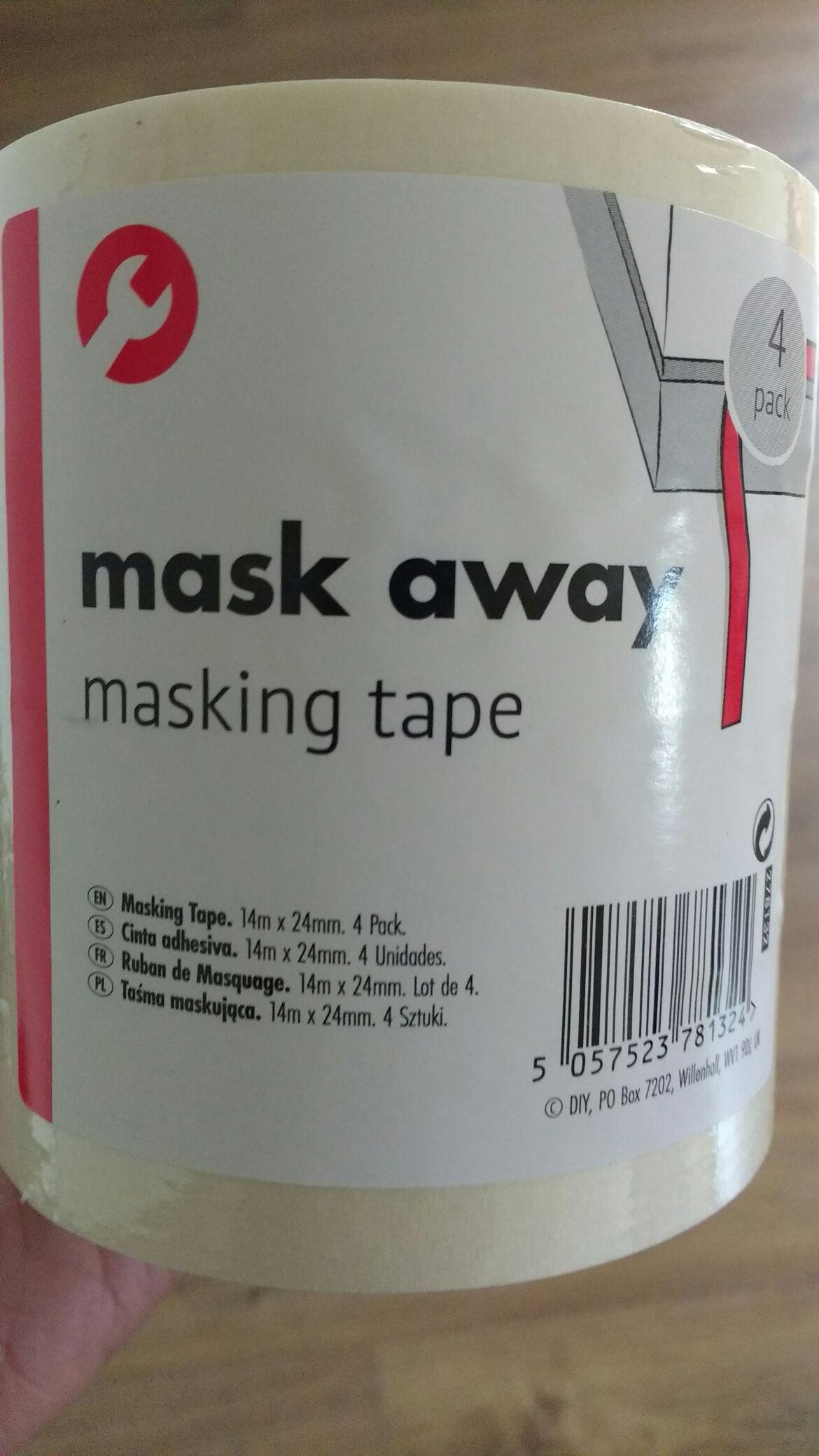 Masking tape x4 £1 poundland