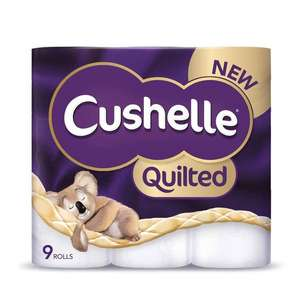 Costco Cushelle Quilted Toilet Tissue, 90 Rolls for £31.98 free delivery no member charge