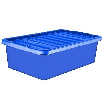 32 Litre Underbed Storage Box & Lid Blue Set of 2 ONLY 40p ! @ ASDA Portsmouth