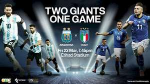 Argentina v Italy (International Football Friendly) @ The Etihad, Manchester on Friday 23rd March - Under 18's tickets only £10