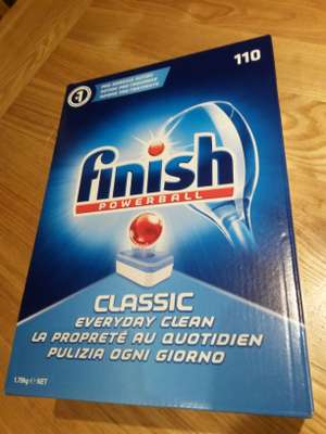 Finish Dishwasher tablets £8 for box of 110 (works out at 7.3p each tablet) @ Poundworld