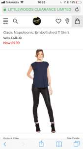OASIS TOP WAS £48 NOW £5.99 / £9.94 delivered @ Bargain crazy