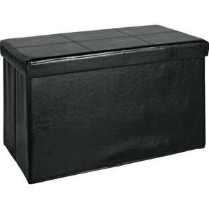 Large Leather Effect Ottoman Black/Brown - £16.99 or 2 for £25.58 (£12.79 each) @ Argos