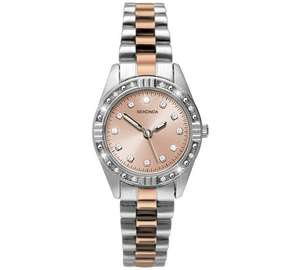 Sekonda Ladies' Rose & Silver Colour Steel Bracelet Watch £19.99 @ Argos
