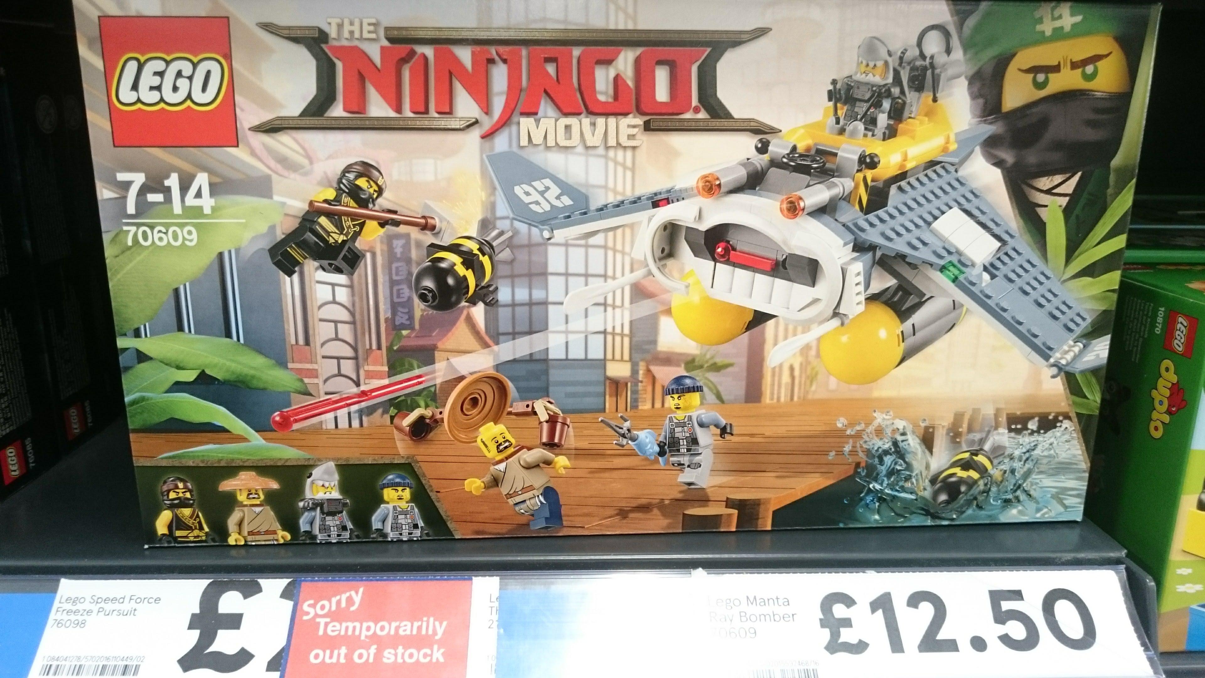 LEGO 70609 Ninjago Manta Ray Bomber £12.50 Tesco INSTORE Long Eaton, Nottingham