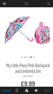 Backpack & Umbrella Set £9.99 @ Argos