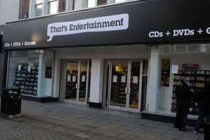 75% off 'That's Entertainment' Livingston outlet closing down sale.