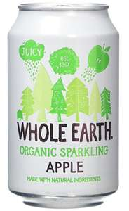 Whole earth organic Sparkling Apple Cans 5 for £1 @ Heron discount offer