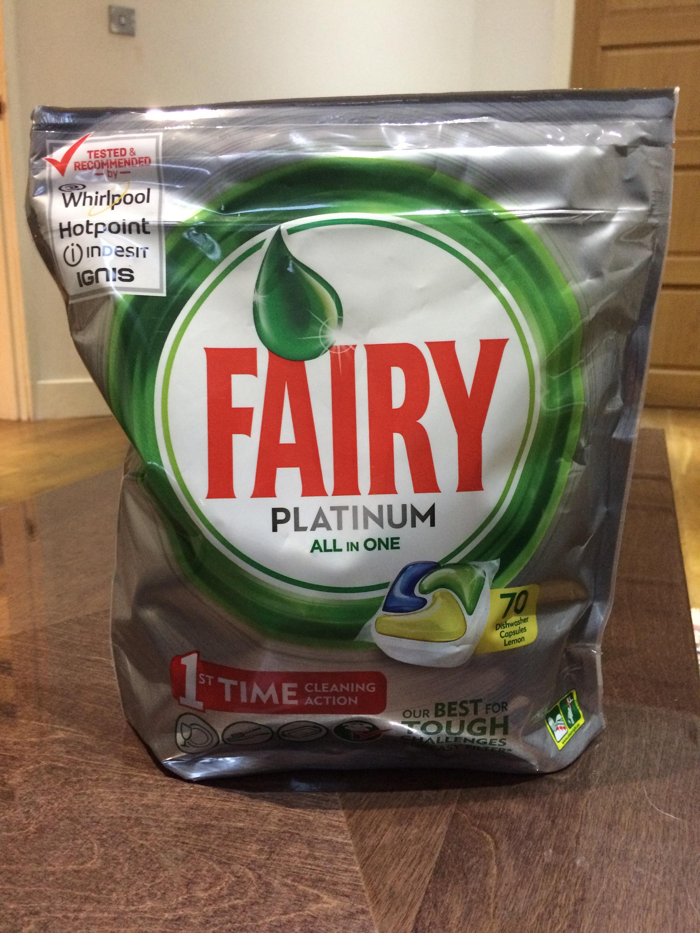Fairy Platinum 70 Dishwasher Tablets £3 @ Tesco instore