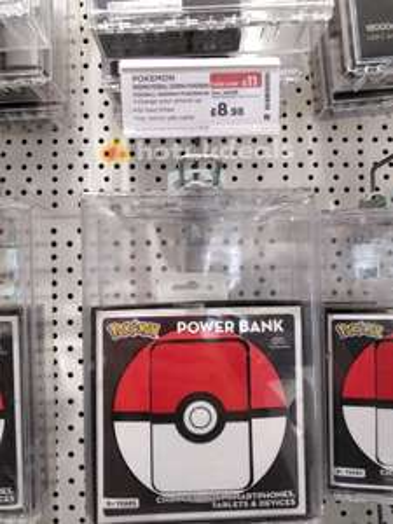 Pokémon 5000mAh power bank was £19.99 now £8.98 @ currys!