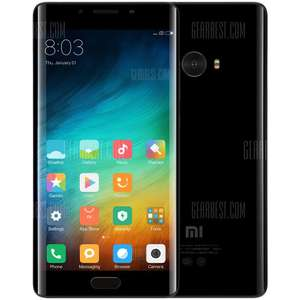 [Flash sale] Xiaomi Mi Note 2 4G Phablet 6GB RAM 128GB ROM MIUI 8 5.7 inch 3D Curved Glass Screen Snapdragon 821 Quad Core 8.0MP + 22.56MP Cameras Type-C Bluetooth 4.2 NFC 4070mAh Battery from EU Warehouse £252 @ Gearbest