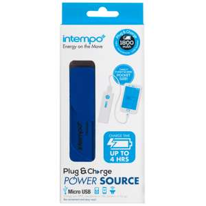 Intempo 1800mAh Plug & Charge Power Source - 10p instore @ Iceland