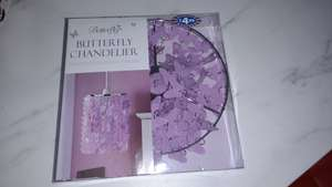 Butterfly Chandelier Lamp Shade £4.99 @ B&M