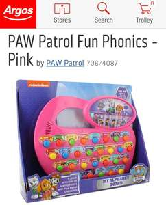 Argos: Paw Patrol phonics learning toy £7.99