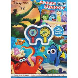 Disney Pixar - Dream and Discover Activity Book (With two spinning pencil toppers) only £1 with Free C&C @ The Works