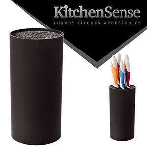 KitchenSense Round Shaped Universal Tungsten Fibre Knife Block - Black £10.95 Prime £15.94 non Prime Sold by Buy a Bargain and Fulfilled by Amazon.