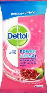 Dettol Power & Fresh All Purpose Cleaning Wipes Pomegranate & Lime - £2 @ Asda