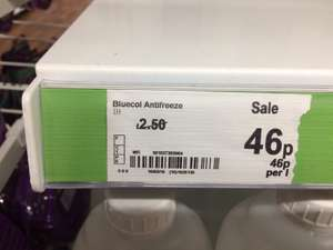 Antifreeze 46p @ Asda