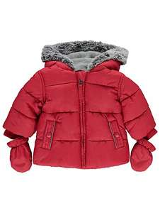 Shower Resistant Padded Coat with Mittens £7 @ Asda