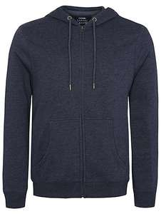BACK in stock - limited sizes M,L,XL mens zip navy hoodie £6 @ Asda