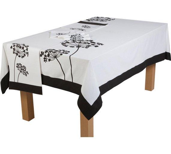 Allium tablecloth + runner + napkins £8.99 @ Argos