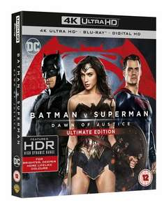 Batman v Superman 4K UHD blu ray £12.99 Amazon Prime sold by Grizzi and FBA (£14.98 non Prime)