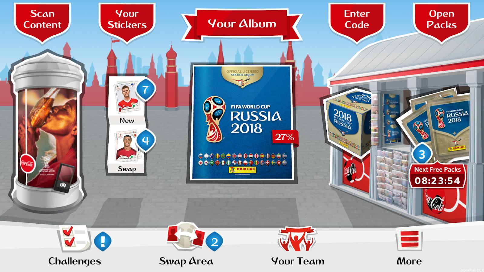 FIFA WORLD CUP RUSSIA 2018 Panini Online Sticker Album - Android app