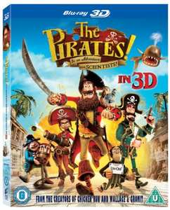 The Pirates! In an Adventure with Scientists - 3d Blu-ray £3.43  Prime / £4.42 non prime @ Amazon