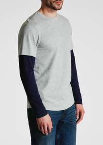 Matalan Men's Long Sleeved Layered TShirt only £3 free click & collect