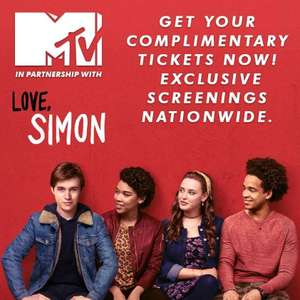 Free tickets for Love, Simon at 6pm at various venues (see description/link for venues) on 19/03/18