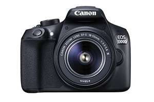 Canon EOS 1300D DSLR Camera with EF-S18-55 DC III F3.5-5.6 Lens - Black £258 with voucher @ Amazon