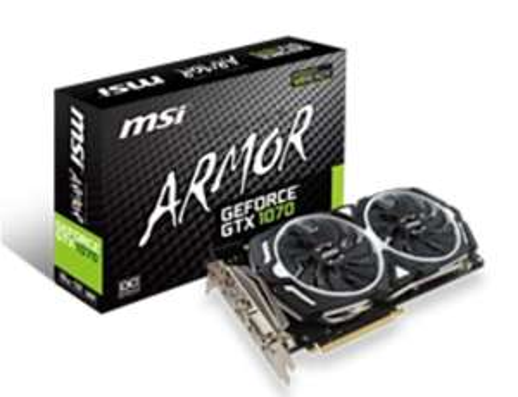 MSI Geforce GTX 1070 ARMOR £369.99 @ Game